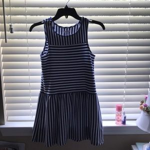 Striped white and blue dress